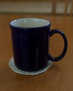 That's no doily! That's a coaster!