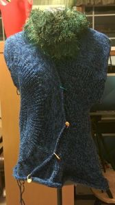 Just needs some seaming, sleeves and a good blocking!