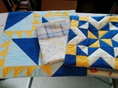 Three pillowcase fronts.