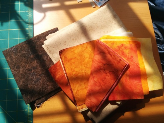Spring Sunshine on an Autumn Quilt.
