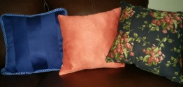 pillows from the back side.