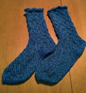 Cable Twist Socks
