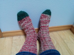 I solemnly swear to try to post my post-production sock fix.