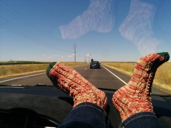 It was a beautiful day for a drive.  I still have some green toes, but not as much and the socks fit.. which was the most important part.