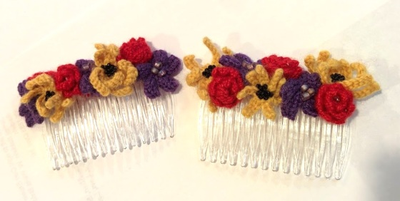 Flower Haircombs