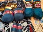 teal yarn