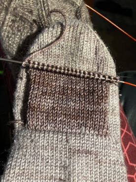 knitting a patch flap