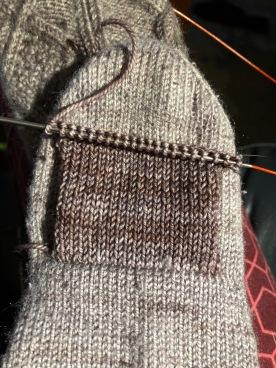 knitting a patch flap